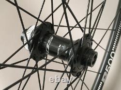 DT R500 Disc Brake Gravel CX Bike 700c Wheelset 32h Shimano Hubs 12mm Thru Axle