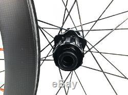 DT Swiss 350 Disc Clincher 50mm Carbon Road Gravel Bike Wheelset 11 Speed NEW