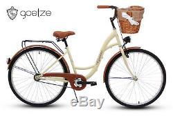 Damenfahrrad Fahrrad mit Korb Citybike Retro Goetze Eco 28 Zoll