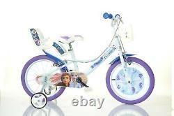 Disney Frozen 2 Film Kids Girls Bike 16 Wheel Bicycle Stabilisers 1 Speed White