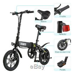 Dohiker 14 Folding Electric E-Bike Ebike Bicycle 7.5Ah 250W Motor Moped EU Ver