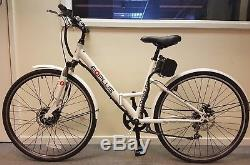 EBike Commute 36v Electric Folding Bike 26 White MANUFACTURER REFURBISHED