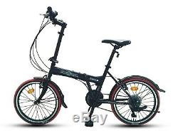 ECOSMO 20 Brand New Folding City Bicycle Bike 21SP SHIMANO 20F03BL