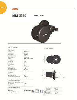 E-Bike Umbausatz BAFANG G340 36V 350W Mittelmotor Umrüstsatz Farbdisplay USB