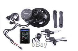 E-Bike Umbausatz USB Farbdisplay Bafang 36V 250W Mittelmotor Umrüstsatz PEDELEC