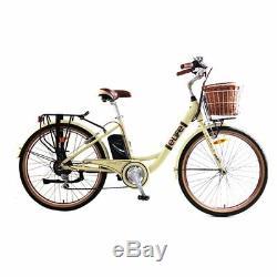 Ebike Legacy 36V Heritage Electric Bike 26 Cream MANUFACTURER REFURBISHED