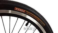 Ecosmo 20 Wheel New Folding Steel Tandem Bicycle Bike 7 Speeds 20TF01BL
