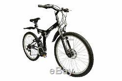 Ecosmo 26 Wheel Folding Steel Mountain MTB Bicycle Bike 21SP, 18.5 -26SF02BL