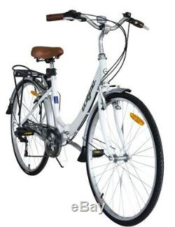 Ecosmo 26 Wheels Folding Ladies Women City Bicycle Bike 7 SP, 17 -26ALF08W