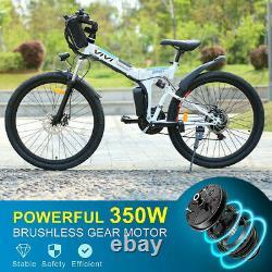 Electric Bikes Mountain Bike 26 Folding Ebike E-Citybike Bicycle 350W 35km/h UK