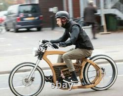 Electric Cruiser Bike 1000w handmade in UK, CNC birch plywood Retro style eBike