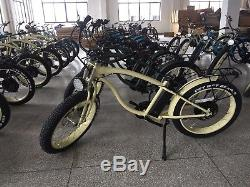 Electric Ebike Cruiser, 350W 48V 10.4 ah Lithium ion battery, Retro cool