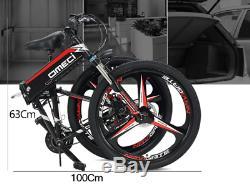 Electric Folding Mountain Bike Adult 26 Inch 48V10AH Ebike Foldable Built-in