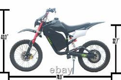 Electric Off-road Bike Motorcycle Dirt Bike White 3000W