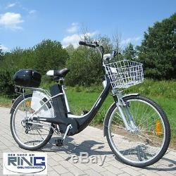 Elektrofahrrad 26 E-Bike 250 W Elektro Fahrrad Pedelec City Bike Rad schwarz