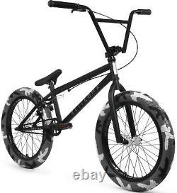 Elite 20 BMX Destro Bicycle Freestyle Bike 3 Piece Crank Black Camo NEW
