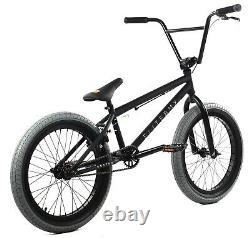 Elite 20 BMX Destro Bicycle Freestyle Bike 3 Piece Crank Black Charcoal NEW