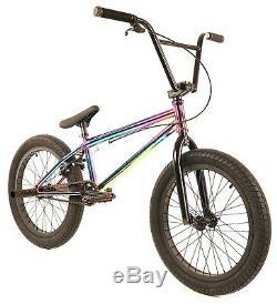 Elite 20 BMX Destro Bicycle Freestyle Bike 3 Piece Crank Neo Chrome NEW 2019