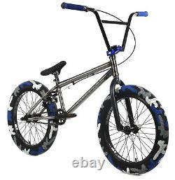 Elite 20 BMX Destro Combat Bicycle Freestyle Bike 3 Piece Crank Raw Camo NEW