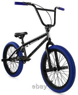 Elite 20 BMX Stealth Bicycle Freestyle Bike 1 Piece Crank Black Blue NEW 2021