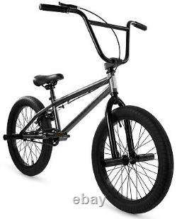 Elite 20 BMX Stealth Bicycle Freestyle Bike 1 Piece Crank Gunmetal Grey 2021