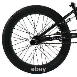 Elite BMX 20 Bike Stealth Freestyle Black All New 2020