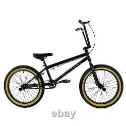 Elite BMX 20 Bike Stealth Freestyle Black Gum NEW 2021 1-Piece