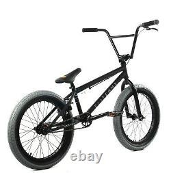 Elite BMX 20 Destro Bicycle Freestyle Bike 3 Piece Crank Black Grey 2020