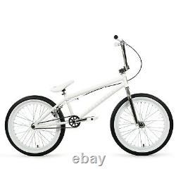 Elite BMX 20 Destro Bicycle Freestyle Bike 3 Piece Crank White Chrome 2020 NIB