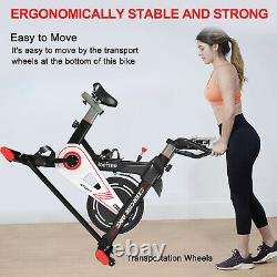 Exercise Training Bike Indoor Cycling Bicycle Workout Trainer Heart Rate Monitor