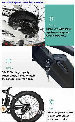 FAT TYRE ELECTRIC BIKE 26 500W 36V 12.5Ah brand new CE certified. High power