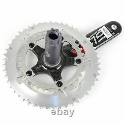 FSA SL-K Light BBright Carbon Road Bike Crankset 50/34 10 Speed 175mm//Silver