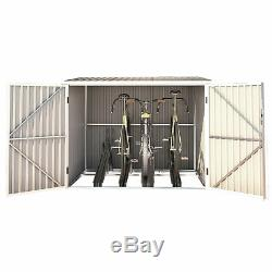 Fahrradgarage Bicycle Box Fahrradhaus Fahrradbox Bikebox 5,6m³ stabil hellgrau