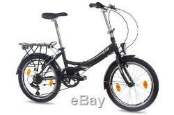 Faltrad 20 Zoll Klapprad unisex Fahrrad CHRISSON FOLDO 6G Shimano schwarz matt
