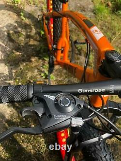 Fat Bike Mountain Bike Fat Tyre Bicycle Hardtail Full Suspension Fork Orange