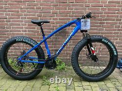 Fatbike Mountainbike 26 Zoll 44 cm 24 Gang Beinaiqi Scheibenbremse Blau