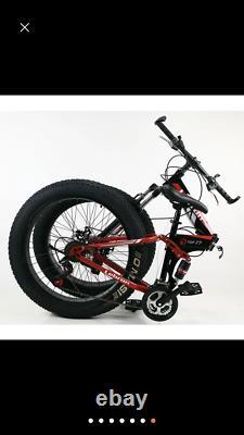 Fatbike Mountainbike Faltrad 26 Zoll 44 cm 24 Gang BNQScheibenbremse Weis
