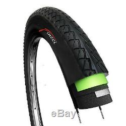 Fincci Pair 26 x 1.95 Tyres Antipuncture for Road Mountain Hybrid Bike Bicycle