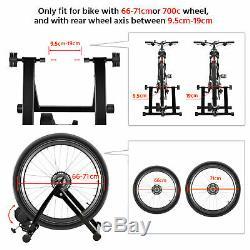 Foldable Magnetic Indoor Turbo Trainer 6 Level Resistance Road Bike Training UK