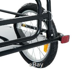 Folding Bike Trailer Cargo B icycle Storage Carrier with Hitch