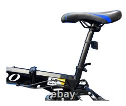 Folding Bike With 21 Speed Gears Lightweight Carbon Steel Portable Bicycle