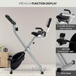 Folding Foldable Upright Exercise Bike Bicycle for Indoor Home Gym Fitness Cycle