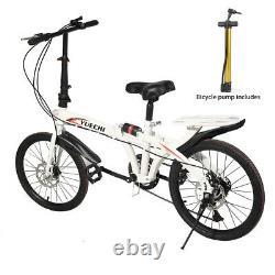 Full Suspension Folding Bike 20 Wheels 7 Speed Gears Disc Brakes Alloy Lightwei