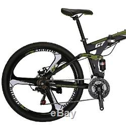 Full Suspension Folding Mountain Bike 21 Speed 27.5 Mens Bicycle Disc Brake MTB