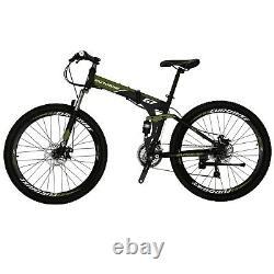Full Suspension Folding Mountain Bike 21 Speed Mens Bicycle Disc Brake MTB 27.5