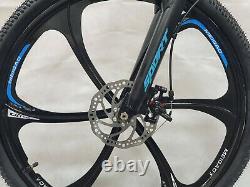 Full Suspension Folding Mountain Bike Bicycle 6 Spoke 26 inch Dual Discs Adult