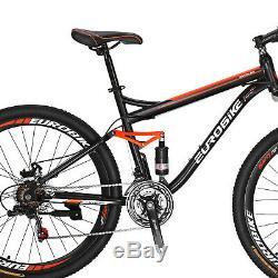 Full Suspension Mountain Bike 27.5 21 Speed Mens Bicycle Disc Brakes MTB large
