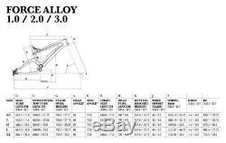GT MY13 FORCE 1.0 Mountain Bike Full Suspension Frame Alloy 26 White LE Model