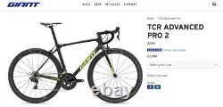 Giant TCR Advanced PRO 2 2019 Carbon Road Bike 58 inch Frame Great Condition