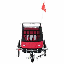 HOMCOM 2 in 1 Multifunctional Bicycle Child Carrier Baby Trailer Stroller Jogger